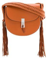 Altuzarra Brown Tassel Flapped Shoulder Bag