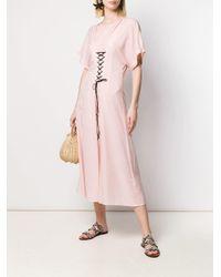 Расклешенное Платье С Короткими Рукавами Marysia Swim, цвет: Pink