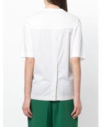 Joseph White Stripe Detail T-shirt