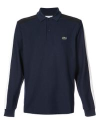Lacoste Blue Longsleeved Polo Shirt for men