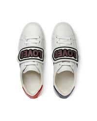 Gucci - White Ace Sneaker With Removable Patches - Lyst