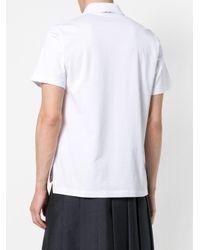 Классическая Рубашка-поло На Пуговицах Thom Browne для него, цвет: White