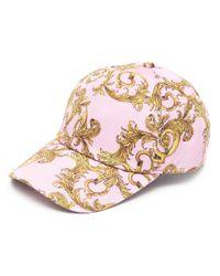 Casquette à imprimé baroque Versace Jeans pour homme en coloris Pink