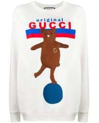 Gucci White Original Bear Sweatshirt