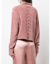 Jersey con detalle de cortes Cushnie de color Pink