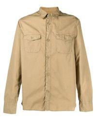 Рубашка С Карманами Officine Generale для него, цвет: Natural