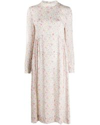 Ganni フローラル ドレス White