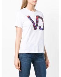 Versace Jeans White Logo Patch T-shirt