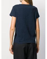 YMC Blue Short Sleeved Cotton T-shirt