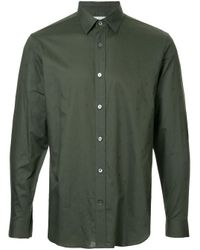 Gieves & Hawkes Green Plain Collared Shirt for men