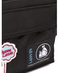 Поясная Сумка С Нашивкой-логотипом Lanvin для него, цвет: Black