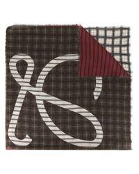 メンズ Loewe アナグラム スカーフ Gray