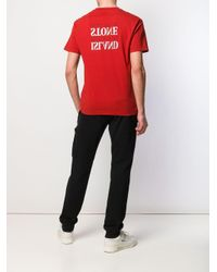 メンズ Stone Island ロゴ Tシャツ Red