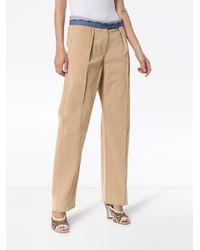 Pantalon droit à taille contrastante Rosie Assoulin en coloris Multicolor