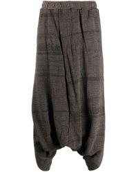 Pantalon texturé à coupe sarouel Julius pour homme en coloris Brown