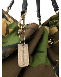 Faith Connexion Green Camouflage Tote