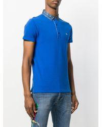 メンズ Etro ペイズリーカラー ポロシャツ Blue