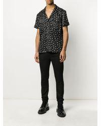 Camisa con estampado de lunares Balmain de hombre de color Black
