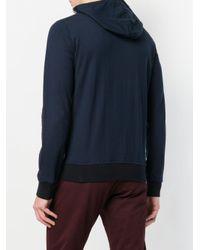Eleventy Blue Zipped Hoodie for men