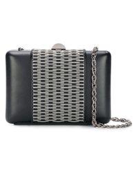 Rodo Black Metal Appliqué Clutch Bag