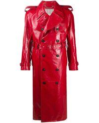 メンズ Maison Margiela トレンチコート Red