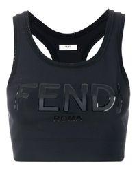 Sujetador deportivo con logo Fendi de color Black
