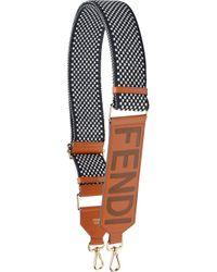 Fendi Multicolor Strap You Leather Bag Strap