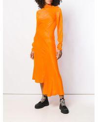 House of Holland モックネック ドレス Orange