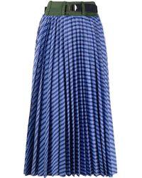 Sacai プリーツスカート Blue
