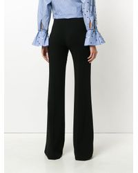 Vionnet Black Pleated Flared Trousers