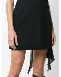 Givenchy プリーツドレープ スカート Black