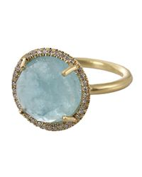 Irene Neuwirth Blue Aquamarine Ring