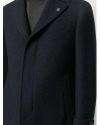メンズ Tagliatore シングルコート Blue