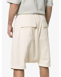 Rick Owens Drkshdw Natural Cropped Sarrouel Trousers for men
