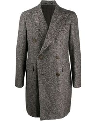 Tagliatore Brown Double-breasted Coat for men