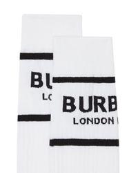 Burberry ホワイト ロゴ ソックス White