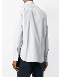 Maison Margiela White Striped Shirt for men