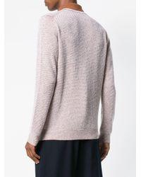 Ermenegildo Zegna Brown Collared Sweater for men