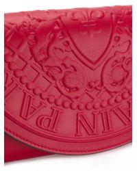 Balmain Red Pgam Continental Clutch