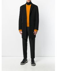 Etro - Black Single Breasted Coat for Men - Lyst