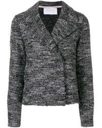 Harris Wharf London Gray Cropped Knit Jacket