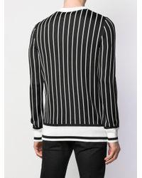 メンズ Balmain ロゴストライプ スウェットシャツ Black