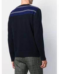 Pull à empiècements contrastants Marni pour homme en coloris Blue