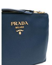 Prada - Blue Vitello Daino Crossbody Bag - Lyst