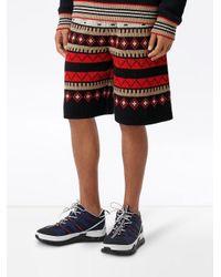 Burberry Shorts mit Fair-Isle-Muster in Black für Herren