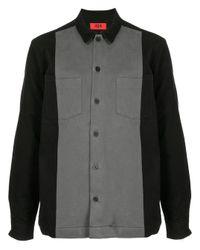 Camisa de manga larga con botones 424 de hombre de color Black
