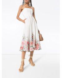 Zimmermann Bellitude フローラル ドレス White