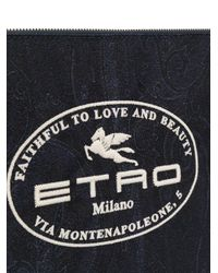 Клатч С Принтом Пейсли И Вышивкой Etro для него, цвет: Blue
