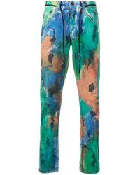 Jeans con stampa vernice di Off-White c/o Virgil Abloh in Blue da Uomo