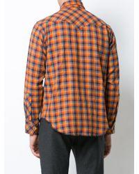 Engineered Garments Orange Checked Shirt for men